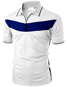 Xpril Men's 2 Tone Pattern Coolmax Fabric Short Sleeve Polo T-Shirt Camisa Polo, Polo Shirt Design, Mens Polo T Shirts, Sharp Dressed Man, Mens Fashion, Fashion Outfits, Mens Clothing Styles, Sport T Shirt, Shirt Style