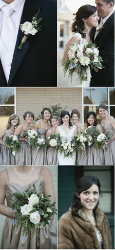 pretty! for a christmas wedding...romantic. Love these flowers!