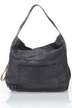 Marni Zip Handle Hobo In Blue - Beyond the Rack I Love Fashion, Fashion Bags, Leather Craft, Leather Bag, My Style Bags, Big Bags, Beautiful Bags, Wallets For Women, Purses And Bags
