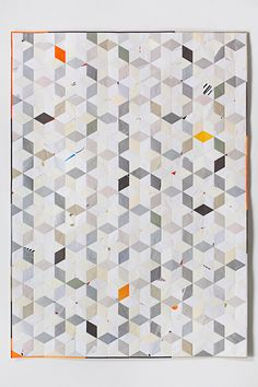 Art: Paper envelopes made into traditional quilts by Stephen Sollins