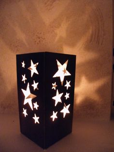 Items similar to Luminary of Stars, Decoration, Lantern Home Decor, Lamp, Lighting on Etsy crafts Star Centerpieces, Star Decorations, Night To Shine, Starry Night Wedding, Diy And Crafts, Paper Crafts, Prom Decor, Celestial Wedding, Lamps For Sale