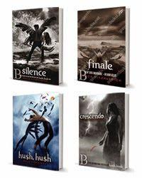Terdiri dari:  1. Hush, Hush Trilogy 1: Hush, Hush 2. Hush, Hush Trilogy 2: Crescendo 3. Hush, Hush Trilogy 3: Silence 4. Hush, Hush Trilogy 4: Finale