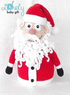 Ravelry: Santa Claus Christmas decoration/gift bag pattern by Viktorija Dineikiene