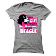 This Girl Loves Her Husband And Her Beagle T-Shirts, Hoodies. ADD TO CART ==► https://www.sunfrog.com/Pets/This-Girl-Loves-Her-Husband-And-Her-Beagle-Ladies.html?id=41382