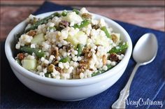 Israeli Couscous with Green Beans, Feta, and Raisins