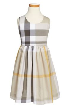 Burberry+'Anny'+Check+Print+Cutout+Back+Sundress+(Little+Girls+&+Big+Girls)+available+at+#Nordstrom