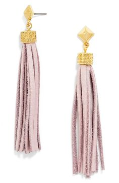 How fun! These BaubleBar tassel earrings are a must.
