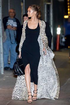 Gigi Hadid on her way to Jimmy Kimmel