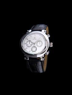 Męski zegarek na skórzanym pasku z tarczą w kolorze srebrnym Gino Rossi 89 PLN  #limango #wyprzedaż #męski #moda