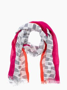 Striped bow print scarf | Kate Spade Scarf Belt, Scarves, Kate Spade, Bows, How To Wear, Shopping, Clothes, Style, Accessories