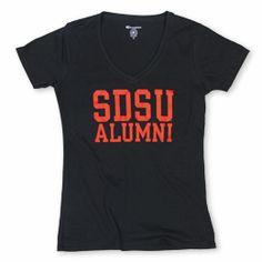 6c3ae055e SDSU Alumni v-neck 100% cotton by Champion. Available in sizes S-XL. $22.