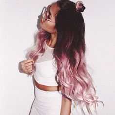 Pastel illusions ombre hair #pink #dipdyed #hair #inspiration