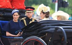 """trh-thesussexes: """"""""The Duke and Duchess of Sussex, The Duchess of Cornwall and The Duchess of Cambridge attend Trooping The Colour in London. Meghan Markle, Camilla Parker Bowles, Nelson Mandela, Duchess Of Cornwall, Duchess Of Cambridge, Prince Harry, Kate Middleton, Bristol, Trooping The Colour"""