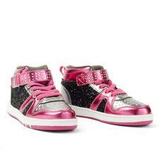 Pink Glitter Hi Top Sneaker