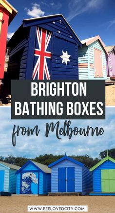 Want to discover the beautiful colourful beach boxes near Melbourne? Welcome to Brighton! It's very easy to go on a day trip from Melbourne to Brighton to see the bathing boxes. Check out our guide! Brighton Beach Melbourne | Brighton Melbourne Australia | Day trip from Melbourne | Things to do in Melbourne | Melbourne Travel Guide | Melbourne Photography | Brighton Bathing Boxes Melbourne | Brighton Beach boxes Melbourne | Melbourne itinerary | Things to do St Kilda | Melbourne beach huts Australia Travel Guide, Australia Day, Melbourne Australia, Brighton Beach Melbourne, Melbourne Travel, Beach Huts, St Kilda, Day Trips, Traveling By Yourself