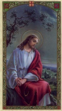 Retreat Prayer Holy Card Jesus Christ Told Apostles to Rest Laminated HC9-367E