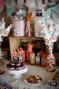 Designs by Kimberly Francom and Associates: Twin Cookies and Milk First Birthday Party
