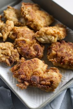 Fried Chicken Thighs - I know how to fry chicken but I've just been trying to figure out how to get my crust to be a bit crispier and prevent it from falling off