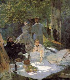 Lunch on the Grass (central panel)  - Claude Monet El Impresionismo se corresponde con una transformación social y filosófica; por un lado, el florecimiento de la burguesía, por otro, la llegada del positivismo. La burguesía, como nuevo fenómeno social, trae sus propios usos y costumbres; unos afectan al campo, que deja de ser lugar de trabajo para convertirse en lugar de ocio: las excursiones campestres