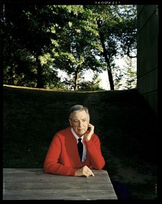 Mr. Rogers, the man that made cardigans cool. Photo by Dan Winters.