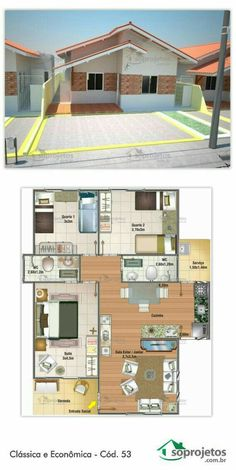 3d House Plans, Dream House Plans, Modern House Plans, Small House Plans, My Dream Home, Small Space Interior Design, Bungalow House Design, Sims House, Home Design Plans