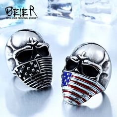 American Flag Stainless Steel Skull Ring For Man Personality Biker Jewelry Factory Price In China, Sea Glass Jewelry, Fine Jewelry, Men's Jewelry, Heart Jewelry, Beaded Jewelry, Women Jewelry, Luxury Jewelry, Gold Jewellery
