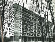 Unite D'Habitation Briey-En-Foret, the fourth structure, was completed in 1959. It is located directly in the forest.