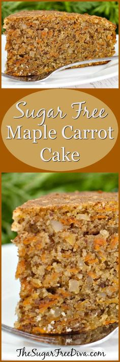 Sugar Free Maple Carrot Cake--I love this combination of cake that is carrot and maple. This is an easy dessert or snack recipe and great for fall or anytime.