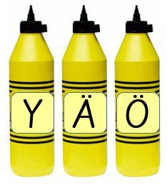 Vokaalit Bottle, Flask, Jars