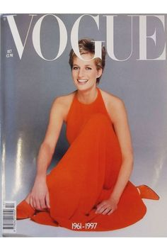 The photo is from 1994, Vogue used it for a special edition after she died. She looks happy and radiant.