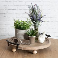 Oxfordshire Round Wooden Footed Coffee Table Tray - tray decor tray decor tray decor Welcome to our website, We hope you are sa - Kitchen Island Decor, Farmhouse Kitchen Decor, Modern Farmhouse, Kitchen Island Centerpiece, Kitchen Ideas, Kitchen Tray, How To Decorate Kitchen Island, Rustic Modern, Decorating Kitchen Counters
