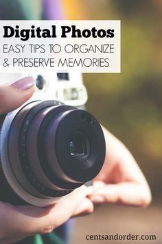 Organize your digital photos: tips for organizing your precious memories and how to backup/protect your pictures.