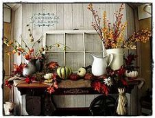 An Early Fall Mantel & Coconut Oil Treatment on Vintage Wood