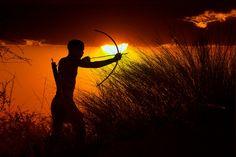 Africa |  San/Bushman hunter, Namib Desert, Namibia | © Jim Zuckerman