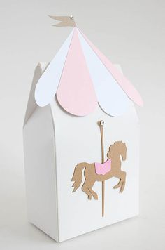 Carousel gift bag carousel favors carousel favor box