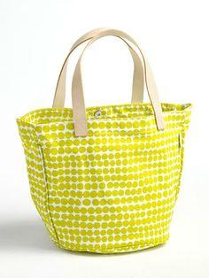 See Design - circle print tote bag H30 × W41