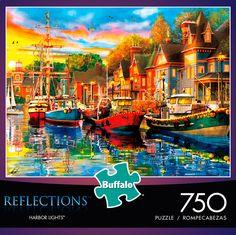 Reflections Harbor Lights 750 Piece Jigsaw Puzzle #jigsawpuzzle #iamapuzzler #buffalogames #750piece