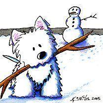 Kim Niles westie snowman