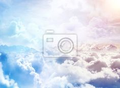 Wall Mural Over the Clouds