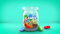 I'm addicted to this game! Texturing, lighting and rendering in Cinema Compositing in After Effects Candy Crush Saga belongs to Ki. I've Got a Candy Crush! Candy Crush Saga, Candy Crush Addict, Saga Art, Sugar Jar, Fanta Can, Wallpaper Pc, Sugar Rush, Make Your Mark, Facebook