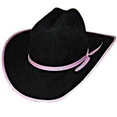 c3e4e3571c6 M and F Western Products Ladies Pink Black Wool Western Cattlemen s Cowboy  Hat M  MFWesternProducts