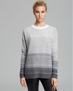 I don't have this exact sweater, but I love all of my Vince cashmere sweaters.  More expensive, but great classics that I can wear for years.