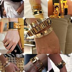 Cartier Love & Hermes bracelets.
