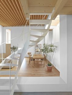 Repository – for Jun Igarashi Architects the staircase is a tool to continue the relationship between the natural environment and the indoor environment in the repository (Japan).