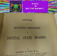 1927 A textbook of Endonita  & 1909 answers to  dental state board Vintage books