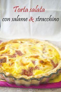 Torta salata con salame e stracchino – Morena in cucina