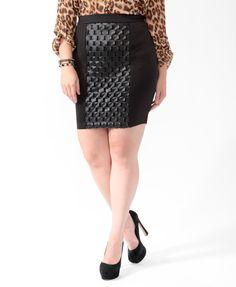 Cutout Circle Panel Skirt | FOREVER21 PLUS - 2015373538
