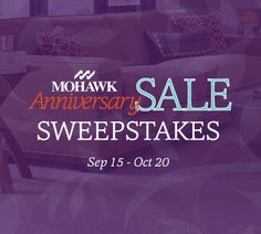 Mohawk Flooring's Love Your Floor Sweepstakes.  Enter to win 1 of 3 prizes up to $2500.  It's easy to enter.  Check it out now! #MohawkAnniversarySale