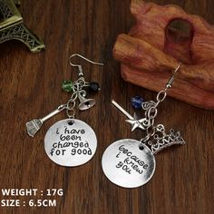 DIY hand-carved Wicked the Musical Drop Earrings I K You, I Have Been Changed For Good For Women Gifts Jewelry Like if you are Excited!Get it here ---> www.jewelrydue.co... #shop #beauty #Woman's fashion #Products #homemade