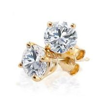 Vinatge1.60Ct Round Diamond Mothers Day Jewelry 14K Gold Solitaire Stud Earrings Round Diamonds, Studs, Stud Earrings, Engagement Rings, Band, Best Deals, Easter Gift, Gifts, Yellow